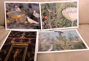 壁画のポストカード