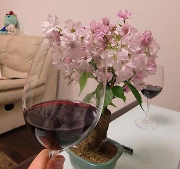 ワインで乾杯した4月上旬