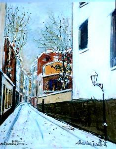 雪の通り、モンマルトル