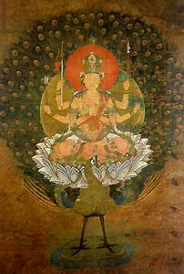 仁和寺の孔雀明王像です