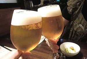 暑い日にはビールが旨い!